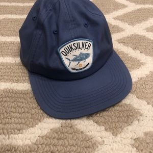 Quicksilver NWOT Waterman blue hat fish logo